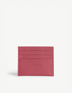 LONGCHAMP Foulonne grained leather card holder