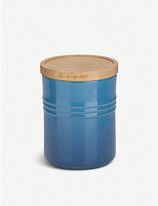 LE CREUSET: Medium stoneware storage jar with lid
