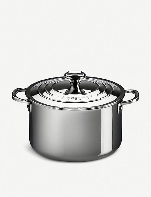 LE CREUSET: Stainless steel Stockpot with lid 28cm