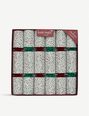 CHRISTMAS Fizzy Christmas crackers box of 12