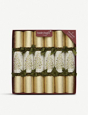 CHRISTMAS Olive tree Christmas crackers pack of 12