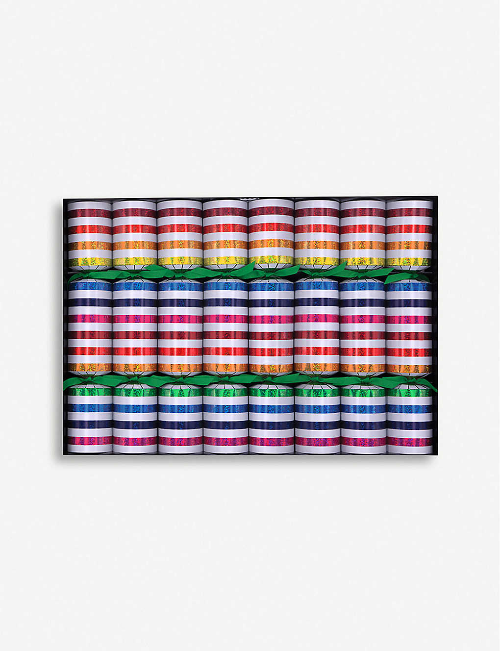 CRACKERS: Xylophone metallic stripe Christmas crackers set of six