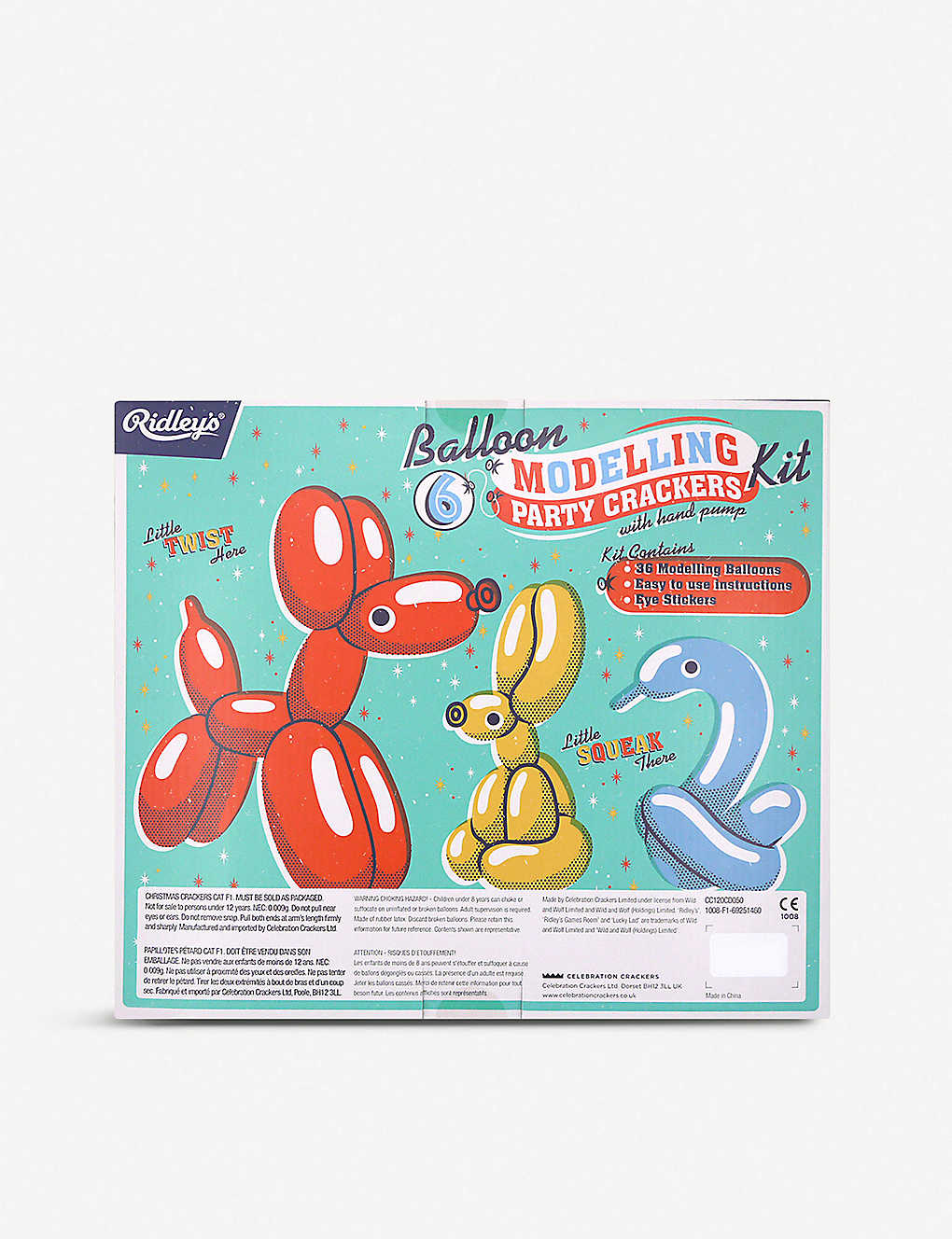 photo about Balloon Modelling Instructions Printable known as CRACKERS - Ridleys Balloon Modelling Xmas crackers