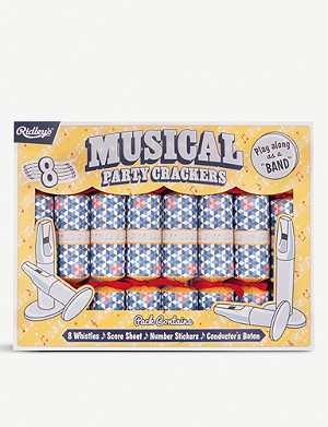 CRACKERS Musical party Christmas crackers box of eight