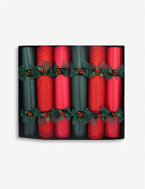 CRACKERS Glitter and matte luxury Christmas crackers set of six