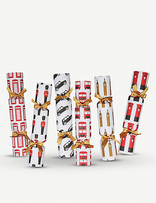 CRACKERS London Christmas crackers pack of six