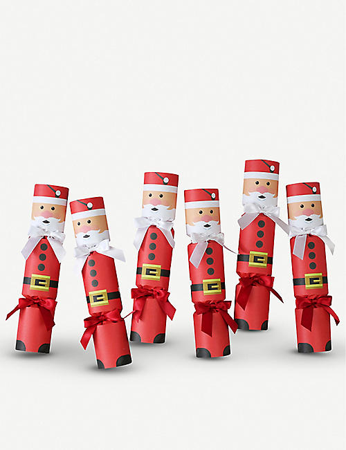 CRACKERS Father Christmas six luxury crackers
