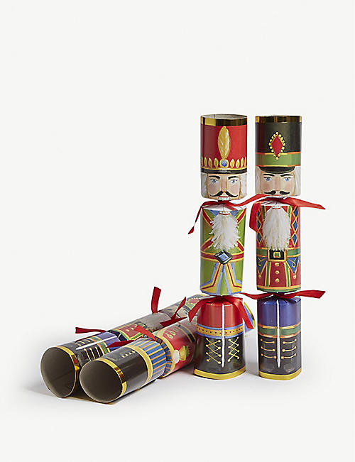CASPARI Nutcracker Christmas crackers set of six