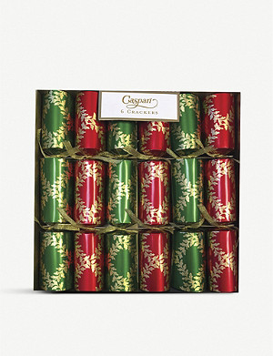 CASPARI Acanthus Trellis Christmas crackers box of six