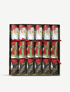 CASPARI Santa Claus paper crackers box of six