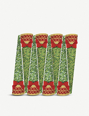 CASPARI Cone tree Christmas crackers box of eight