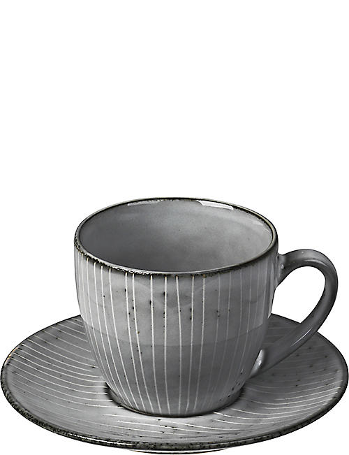 BROSTE: Nordic Sea stoneware cup and saucer