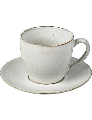 BROSTE Nordic Sand stoneware cup and saucer