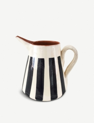 CASA CUBISTA Striped ceramic pitcher 2L
