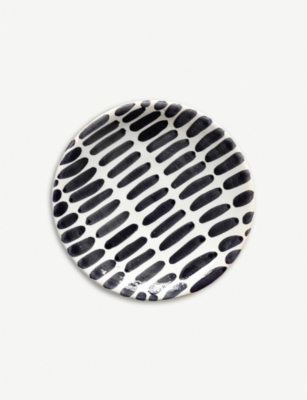 CASA CUBISTA Striped mini ceramic plate 12cm
