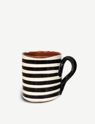 CASA CUBISTA Striped ceramic mug
