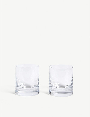 LSA Gin glass tumblers set of two