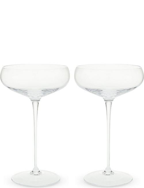 LSA WINE champagne saucers set of four