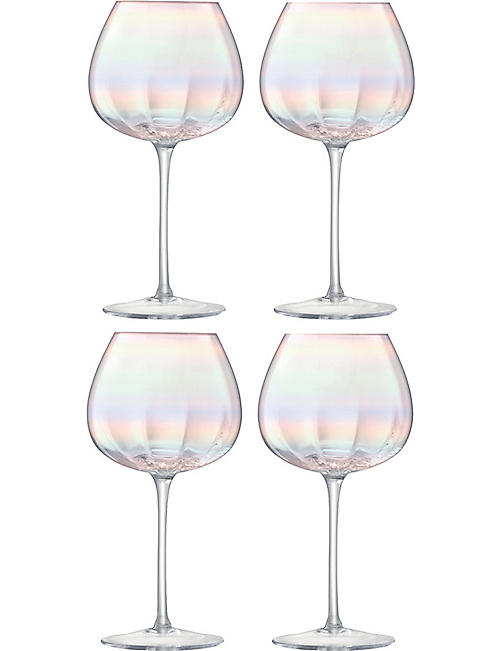 LSA Pearl set of four red wine glasses