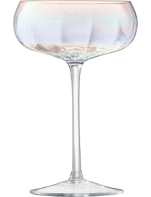 LSA Pearl set of four champagne saucers