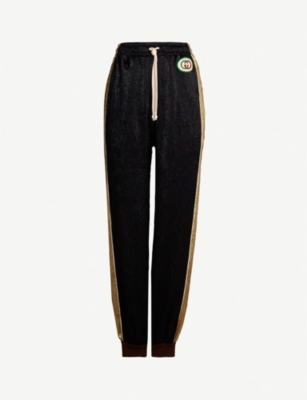 GUCCI Side stripe metallic jogging bottoms