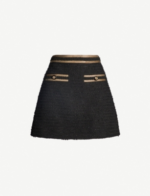 GUCCI Metallic tweed mini skirt
