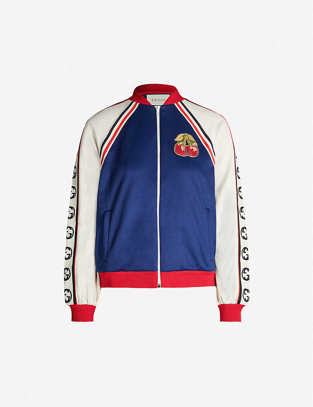 df6e0d3c0 GUCCI - Cherry-patch jersey jacket | Selfridges.com