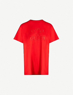 GUCCI Graphic-print cotton-jersey T-shirt