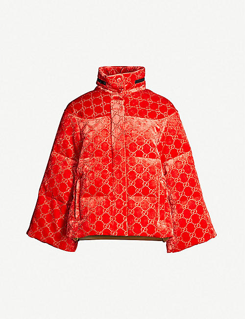 129298ccb4f GUCCI Padded velvet-down hooded puffer jacket