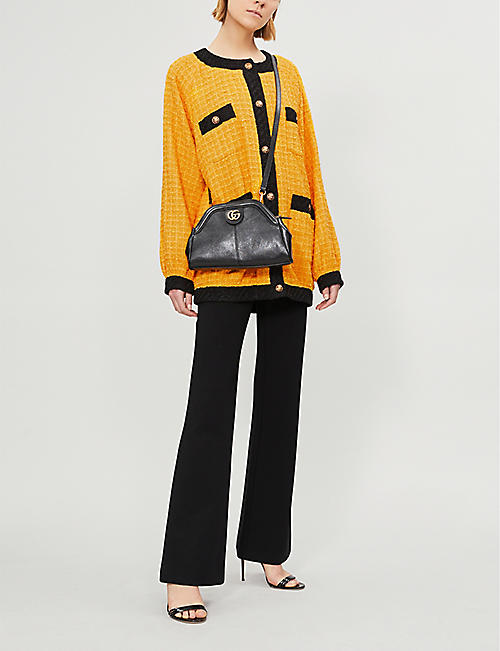 GUCCI Colour-blocked oversized cotton-blend jacket