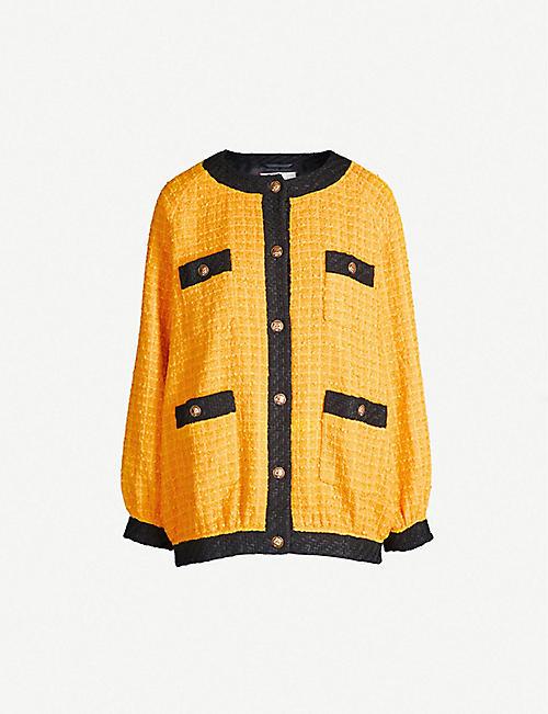 GUCCI Colour-blocked oversized cotton-blend jacket 843f0c859f