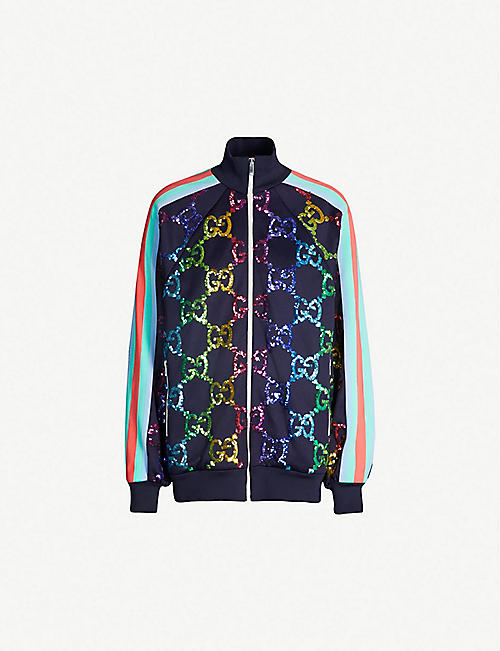 e8e11548ba4 GUCCI GG-logo stretch-jersey jacket