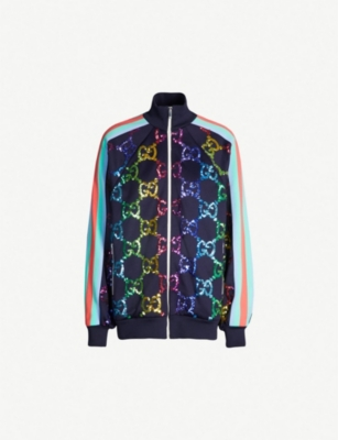 GUCCI GG-logo stretch-jersey jacket