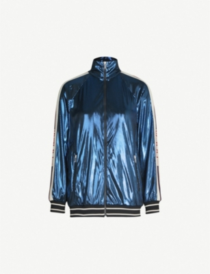 GUCCI Logo-tape lamé jacket