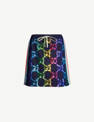 GUCCI GG-logo stretch-jersey mini skirt