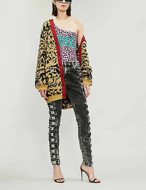 GUCCI Leopard-print stretch-jersey body