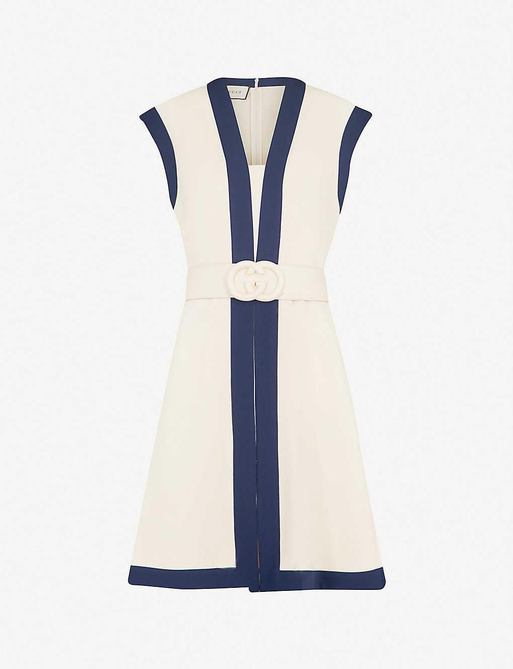 99ff5aa09 GUCCI - Belted woven mini dress | Selfridges.com