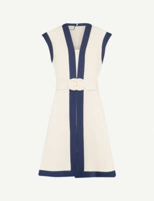 GUCCI Belted woven mini dress