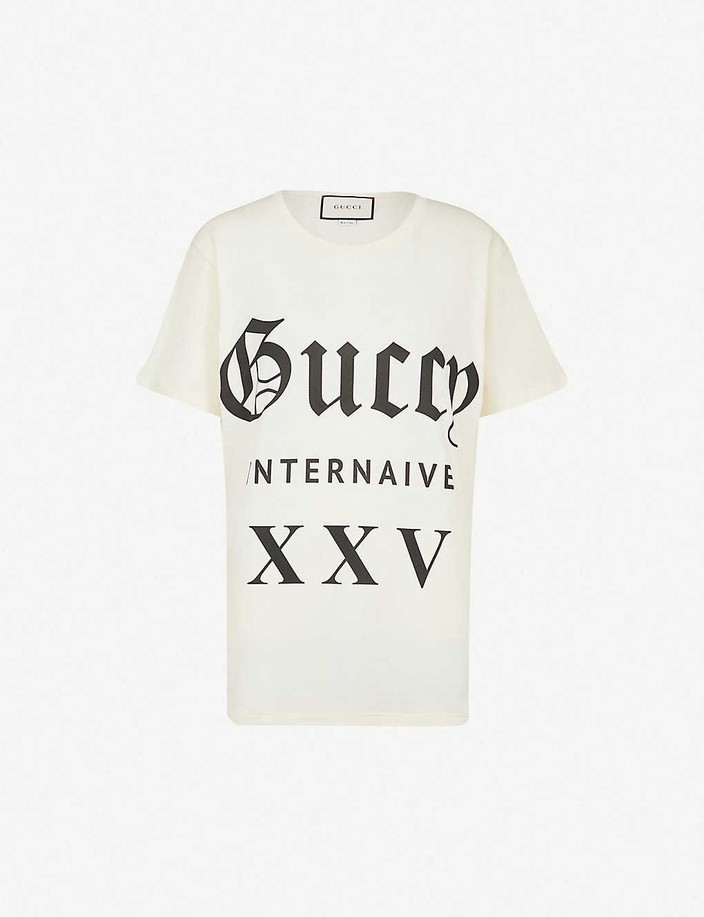 21b0c204 GUCCI - Guccy Internaive XXV cotton-jersey T-shirt | Selfridges.com