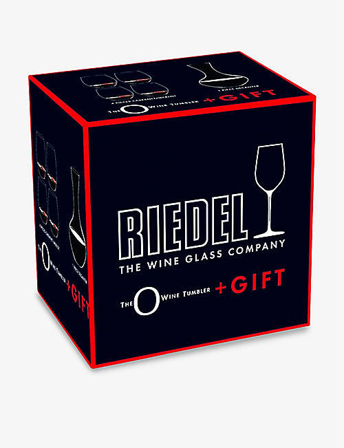 RIEDEL 'O' wine tumblers set of four and gift