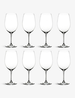 RIEDEL Vinum Bordeaux glasses set of eight