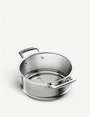LE CREUSET: 3-ply stainless steel steamer 20cm
