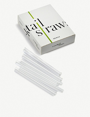 SERAX Glass cocktail straws set of six