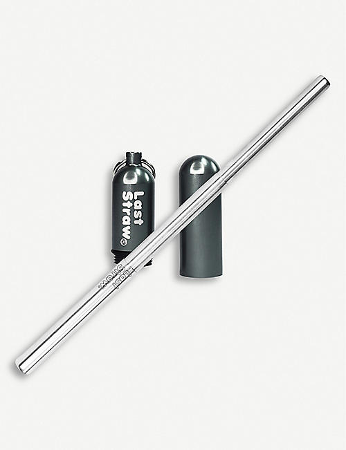 LAST STRAW Stainless steel collapsible drinking straw