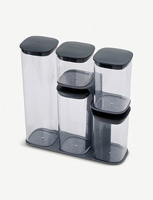 JOSEPH JOSEPH Podium storage containers with stand set of five