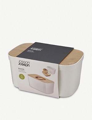 JOSEPH JOSEPH Bread bin and bamboo cutting board lid