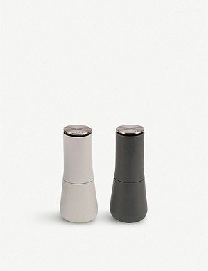 JOSEPH JOSEPH Milltop™ ceramic and stainless-steel salt and pepper mill set