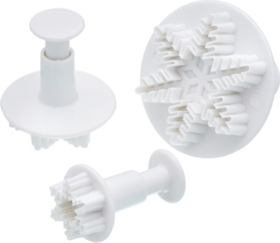 KITCHEN CRAFT Sweetly does it snowflake fondant plunge cutters set of 3