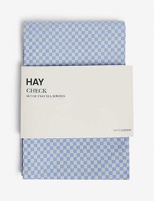 HAY Check tea towels set of two