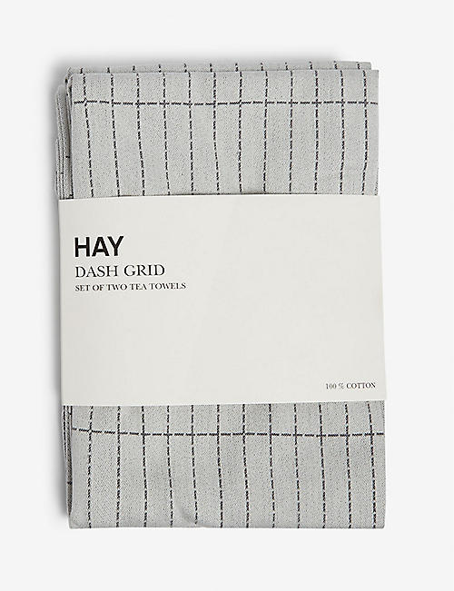 HAY: Dash grid tea towels set of two